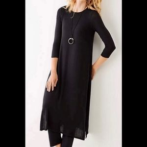 J Jill Wearever Collection Long Black Tunic